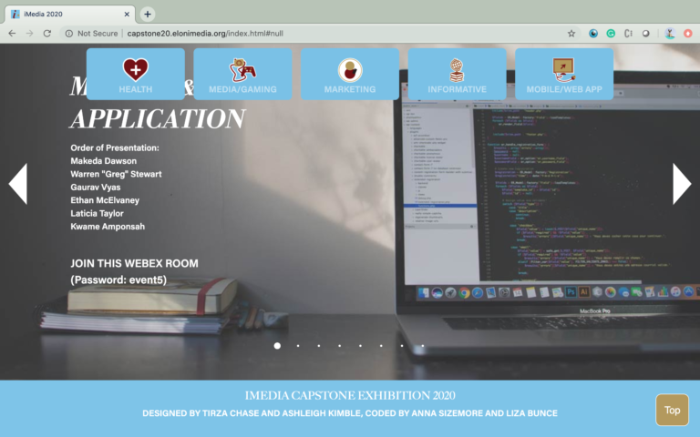 Image showing the footer of the iMedia 2020 Exhibition Website.
